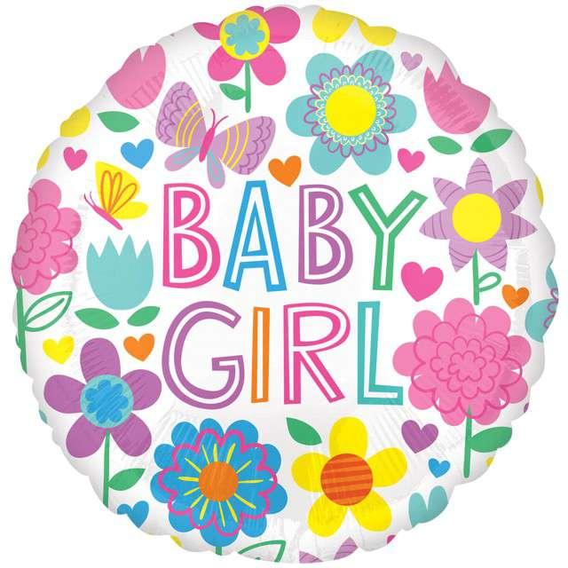 _xx_Standard Baby Girl Floral Butterfly balon fol