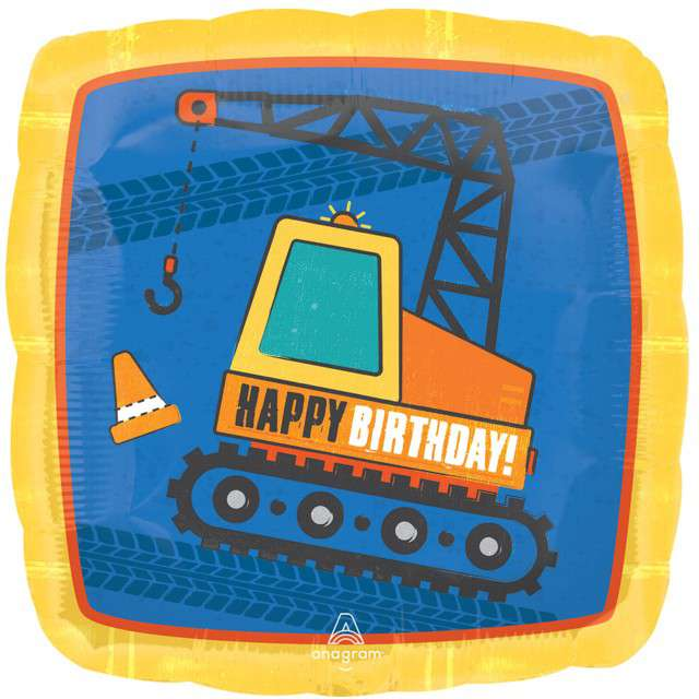 _xx_Standard Construction Birthday balon foliowy