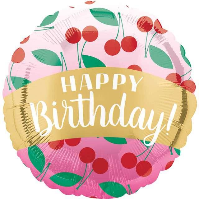 _xx_Standard Happy Birthday Cherries balon foliow