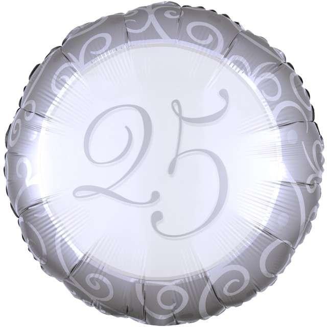 Balon foliowy 25 rocznica ślubu Amscan 18 RND