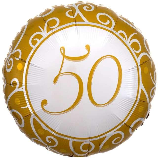Balon foliowy 50 rocznica ślubu Amscan 18 RND
