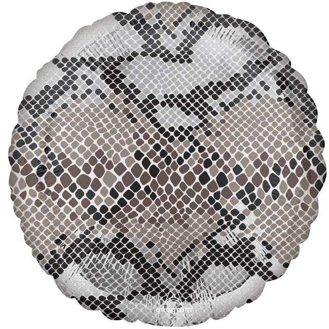"Balon foliowy ""Animal: Wężowa skóra"", Amscan, 18"" RND"