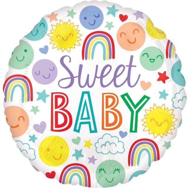 "Balon foliowy ""Sweet Baby"", AMSCAN, 16"" RND"