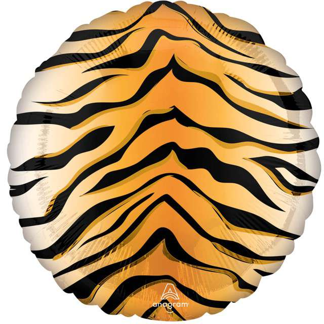 "Balon foliowy ""Animal: Tygrys w paski"", Amscan, 18"" RND"