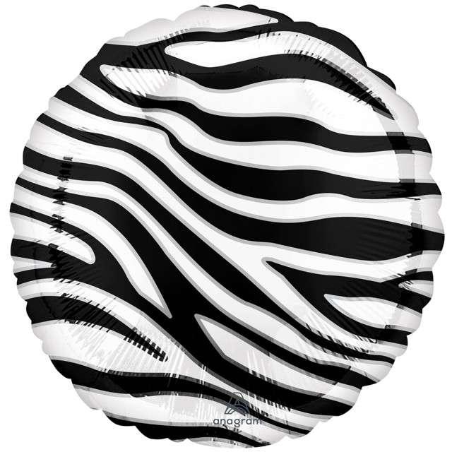 Balon foliowy Animal: Zebra w paski Amscan 18 RND