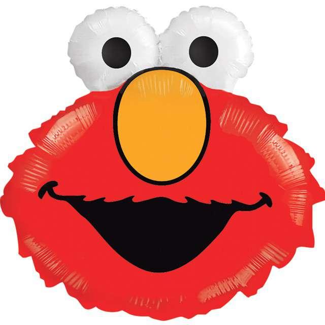 Balon foliowy Wesoły Elmo XL czerwony Amscan 20 SHP