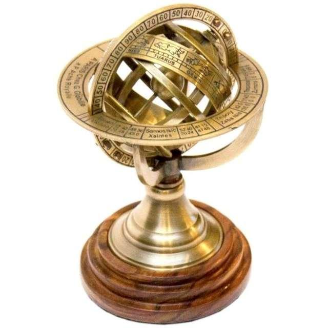 _xx_Astrolabium sferyczne na drewnianej podstawie
