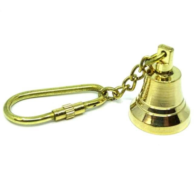 """Brelok """"Dzwon z karabińczykiem"""", Kemiś, złoty"""