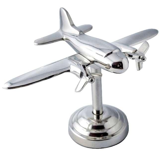 _xx_Figurka samolotu dwusilnikowego - metalowa