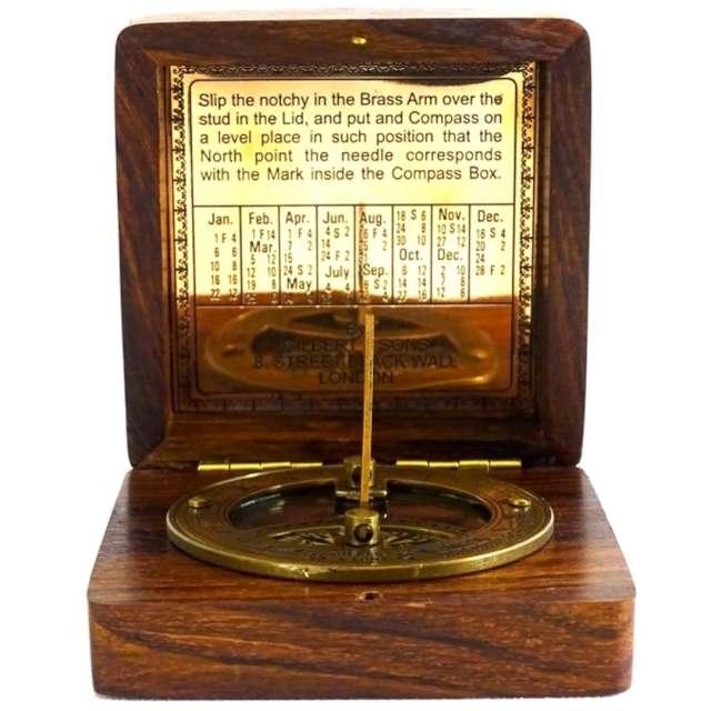_xx_Kompas i zegar słoneczny Gilbert w obudowie drewnianej