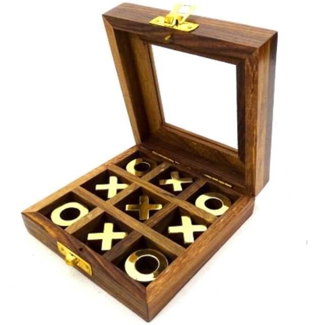 _xx_Kółko i krzyżyk - gra w pudełku drewnianym ze szklanym topem