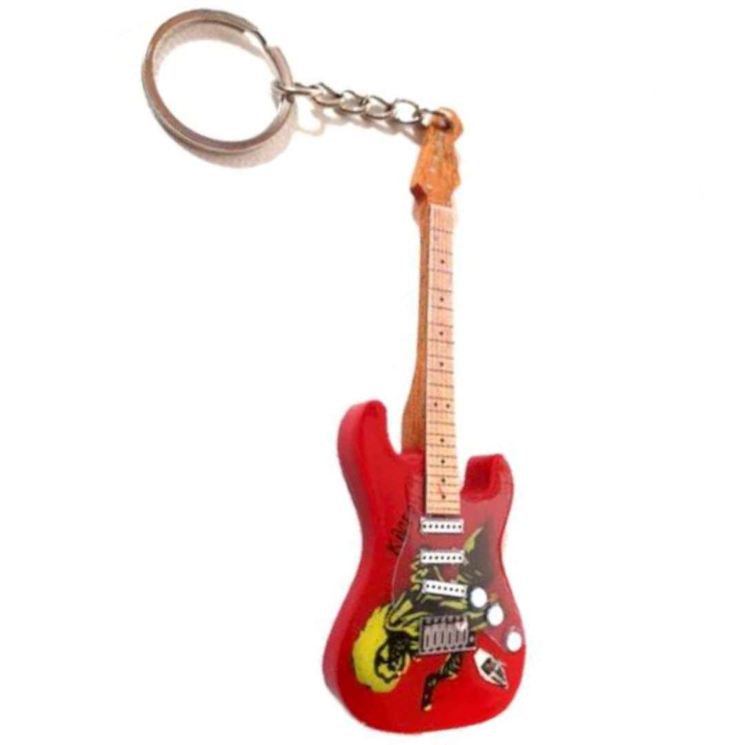 """Brelok """"Gitara elektryczna Rock"""", czerwona, Kemiś"""