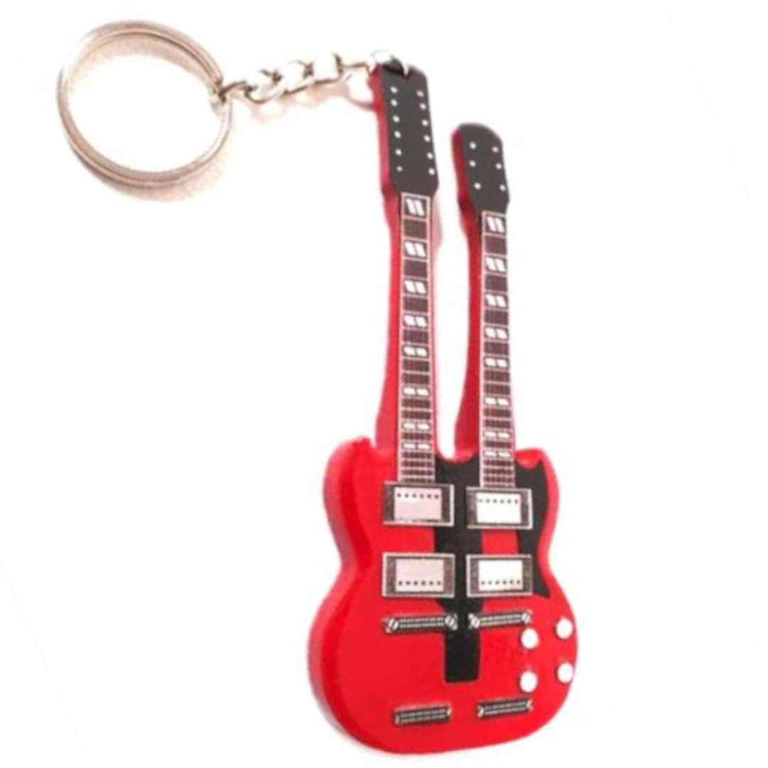 "Brelok ""Dwugryfowa gitara"", czerwona, Kemiś"