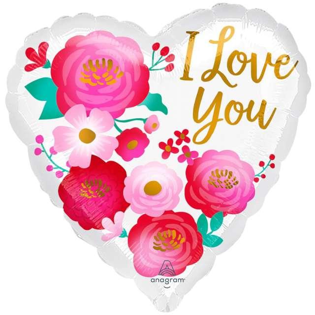 _xx_Balon foliowy 18 cali serce I Love You Flowers