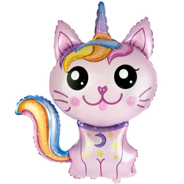 """Balon foliowy """"Magiczny, różówy kot"""" Flexmetal, 24"""" SHP"""