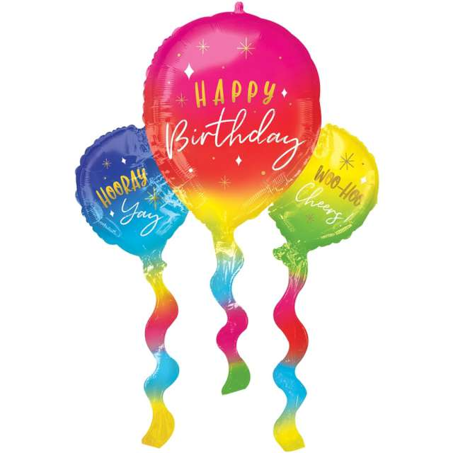 _xx_Balon foliowy SuperShape Birthday fun zapakowany