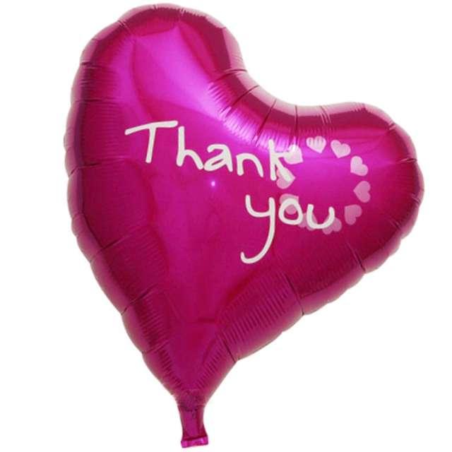 """Balon foliowy """"Serce Thank You"""", różowe, Ibrex, 14"""", HRT"""