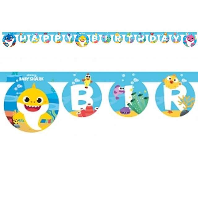 "Baner ""Happy Birthday - Baby Shark"", Procos"