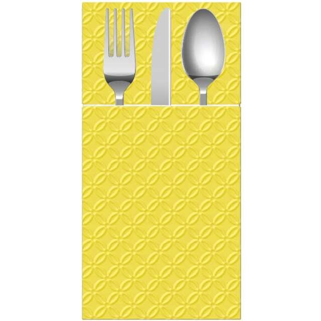 _xx_Etui (kieszonki) na sztućce PAW Pocket Inspiration Modern (yellow) 40x40 cm 16 szt.