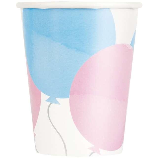 Kubeczki papierowe Pastelowe baloniki Unique 266 ml 8 szt