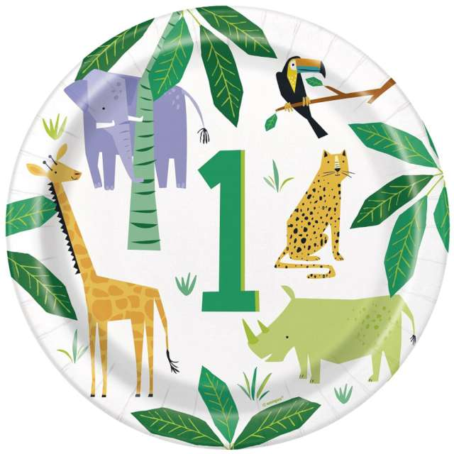 _xx_Talerzyki papierowe Animal Safari 23 cm 8 szt.