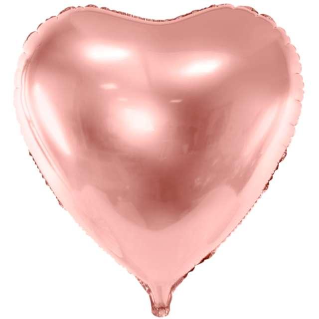 Balon foliowy Duże serce różowo-złoty PartyDeco 28 HRT