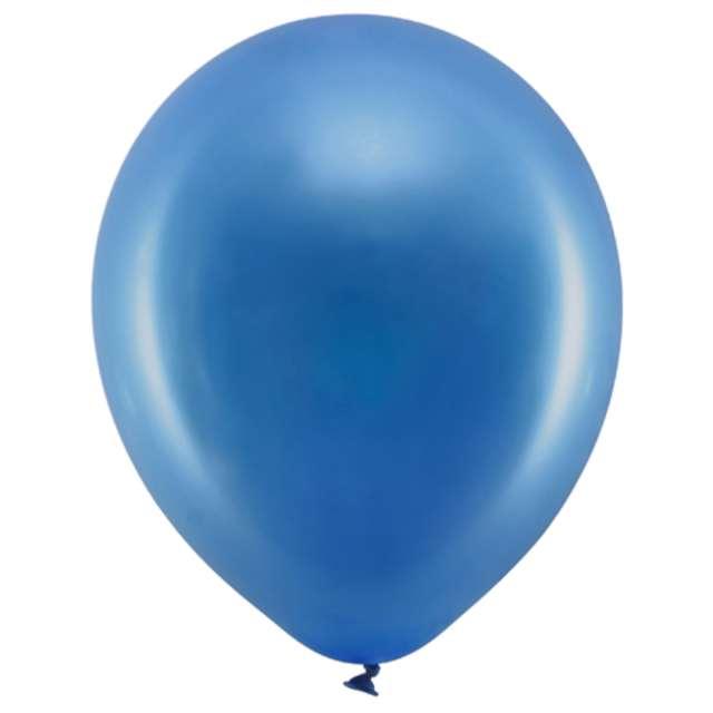 """Balony """"Rainbow - Metalizowane"""", granatowe, PartyDeco, 9"""", 100 szt"""