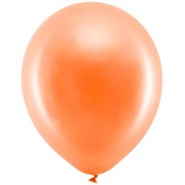 """Balony """"Rainbow - Metalizowane"""", pomarańczowe, PartyDeco, 9"""", 100 szt"""