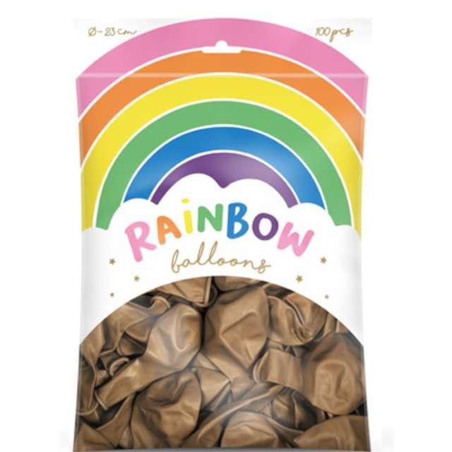 Balony Rainbow - Metalizowane złote PartyDeco 9 100 szt