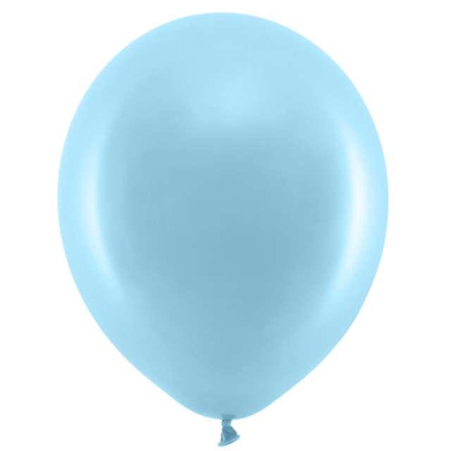 Balony Rainbow - Pastelowe błękitne PartyDeco 9 100 szt