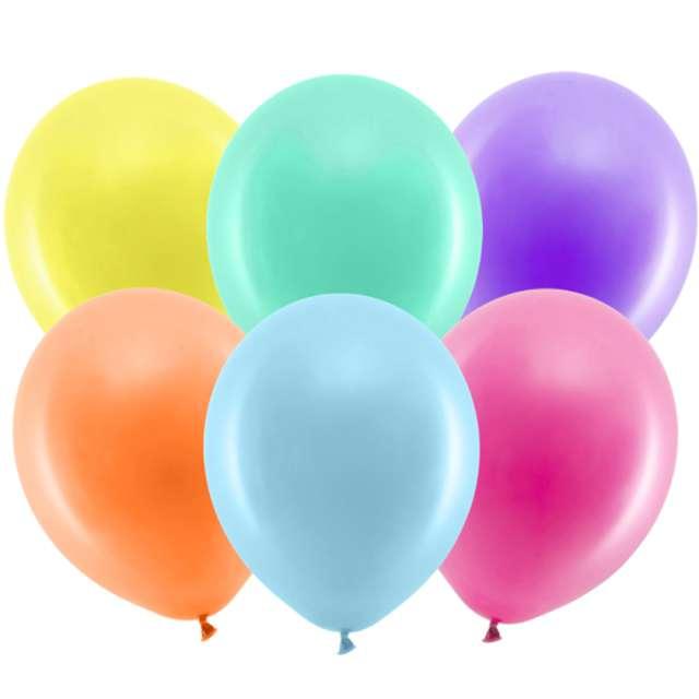 Balony Rainbow - Pastelowe mix PartyDeco 9 100 szt