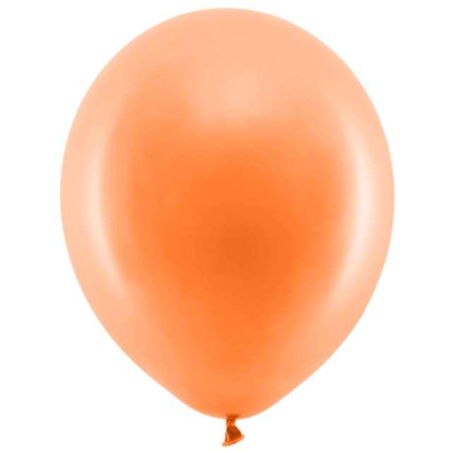 """Balony """"Rainbow - Pastelowe"""", PartyDeco, pomarańczowe, 9"""", 100 szt"""