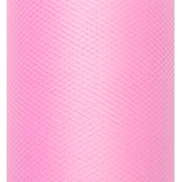 Tiul gładki różowy PartyDeco 03 x 50 m