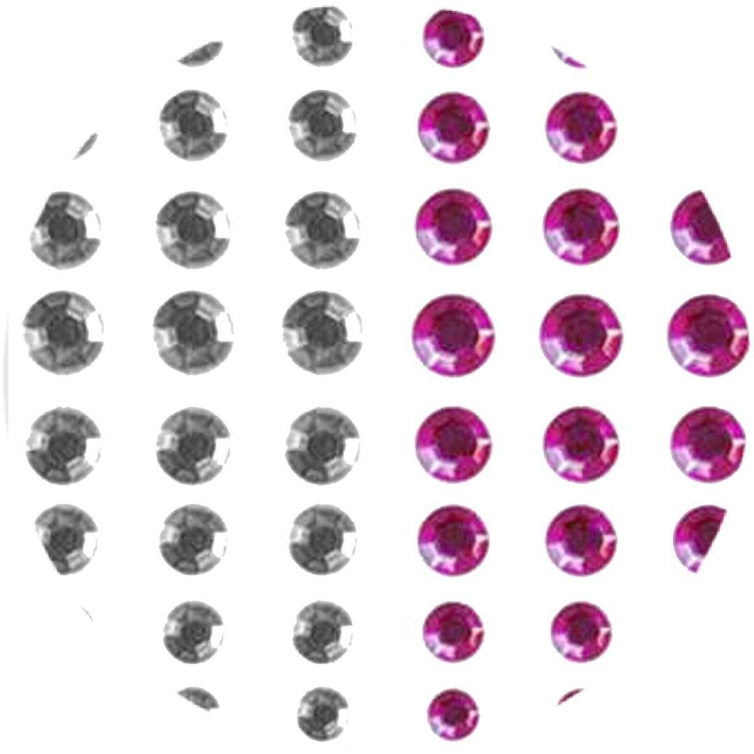 Dżety samoprzylepne Kryształki srebrno-różowe 66 szt Titanum