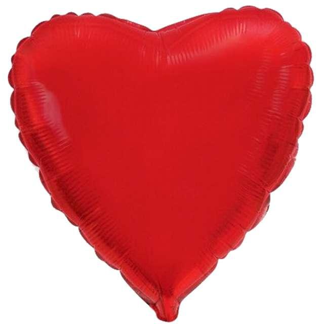 """Balon foliowy """"Serce"""", czerwowe, Flexmetal, 18"""", HRT"""