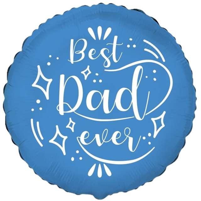 """Balon foliowy """"Dzień Ojca - Best Dad Ever"""", Flexmetal, 18"""", RND"""