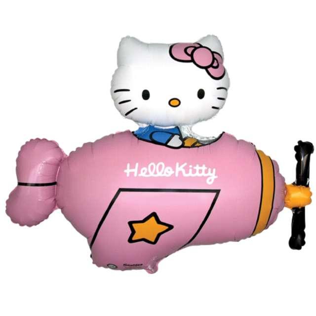 """Balon foliowy """"Hello Kitty w samolocie"""", różowy, Flexmetal, 24"""" SHPy"""