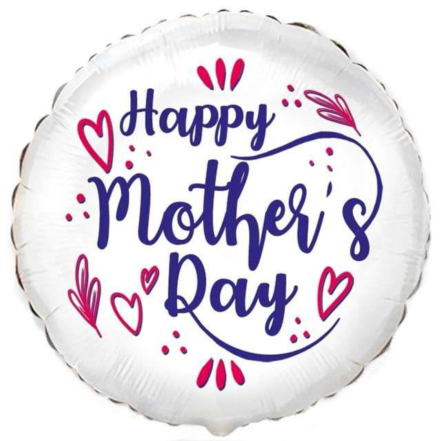 """Balon foliowy """"Dzień Matki"""", biały, Flexmetal, 18"""", RND"""