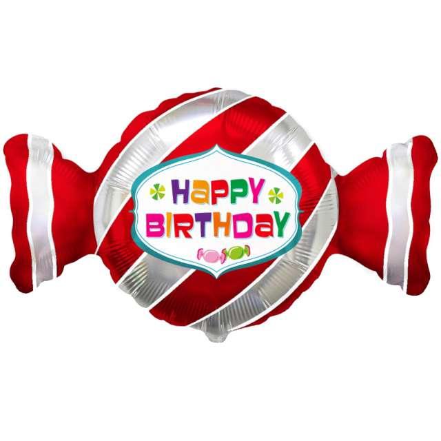 """Balon foliowy """"Happy Birthday Cukierek"""", Flexmetal, 24"""" SHP"""