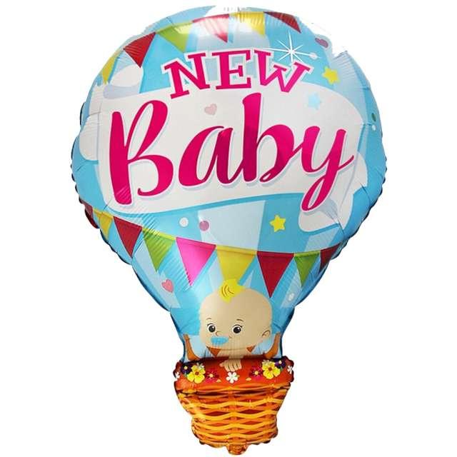 Balon foliowy Baby Shower - balon niebieski Flexmetal 24 SHP