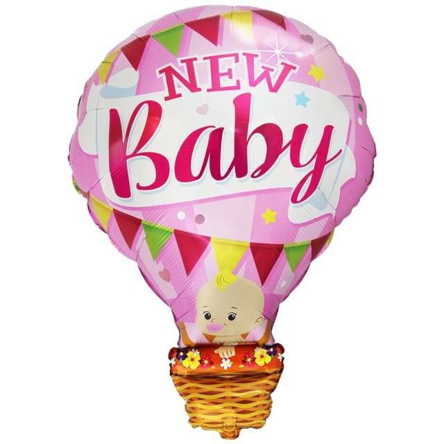 "Balon foliowy ""Baby Shower - balon różowy"", Flexmetal, 24"" SHP"