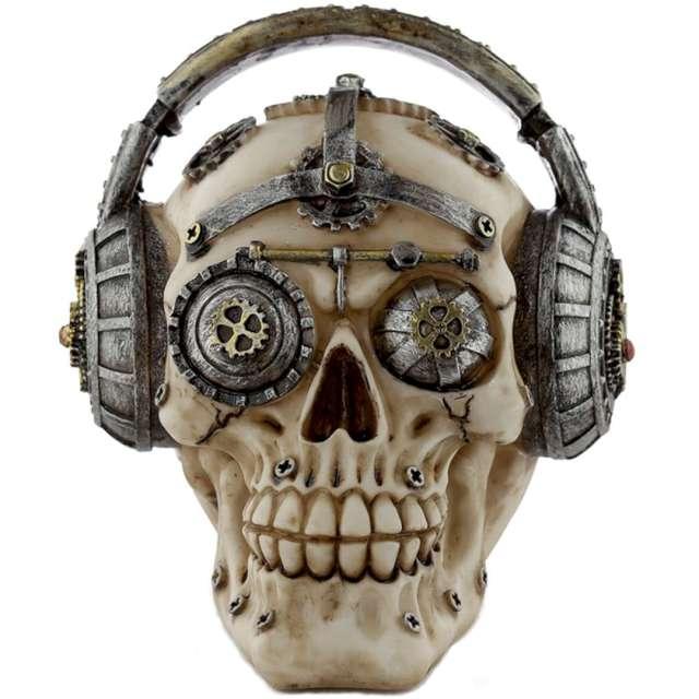 """Figurka """"Czaszka Steampunk w słuchawkach"""", Puckator, 16 x 13 cm"""