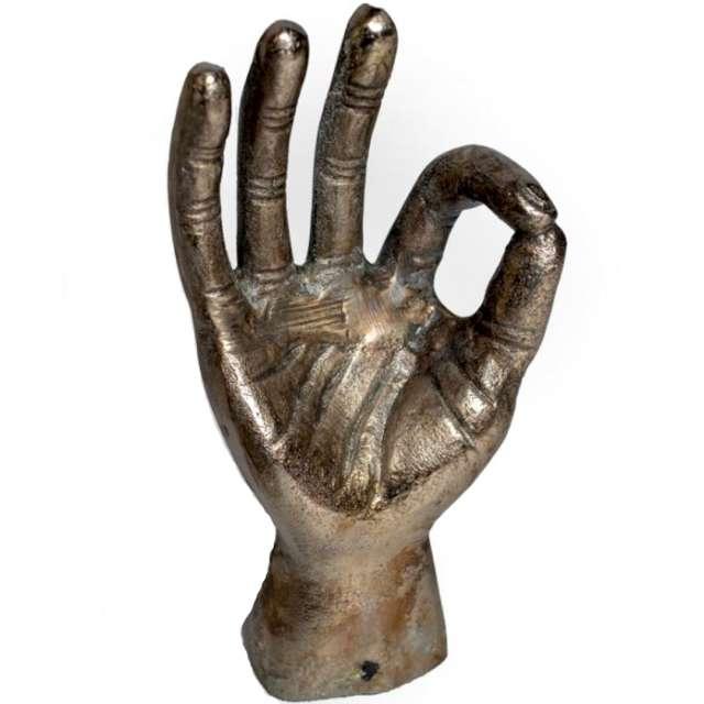 """Figurka """"Dłoń - Okej"""", złota, Kemiś. 26 cm"""