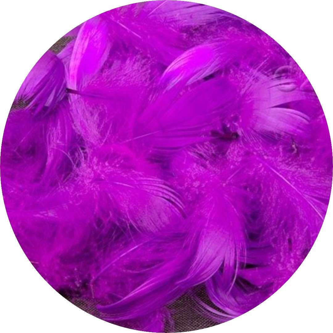 Piórka dekoracyjne, fioletowe, Czakos, 10 g