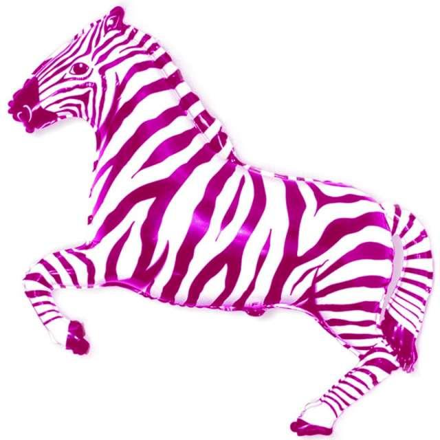_xx_Balon foliowy 14 FX - Zebra (różowa)