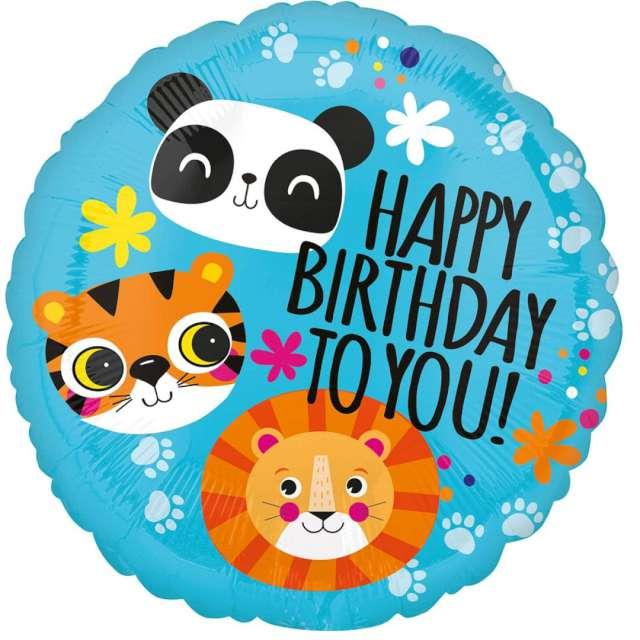 _xx_Balon foliowy 18 cali CIR - Urodzinowe zwierzątka