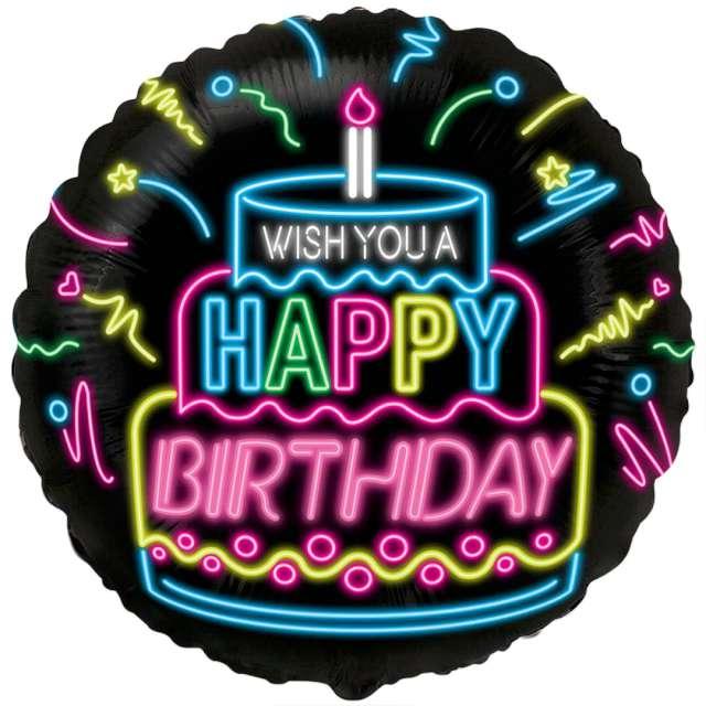 _xx_Balon foliowy 18 cali FX - Happy Birthday- NEON