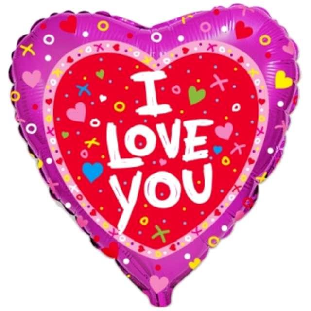 _xx_Balon foliowy 18 cali FX I LOVE YOU + konfetti