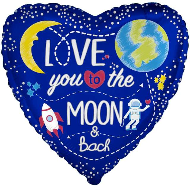 Balon foliowy Love You to the Moon Flexmetal 18 HRT