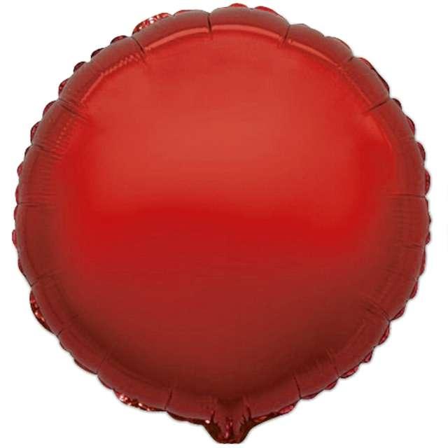 Balon foliowy Okrągły czerwony Flexmetal 9  RND
